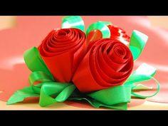Розы из лент. Мастер-класс / Ribbon Roses Tutorial / ✿ NataliDoma - YouTube