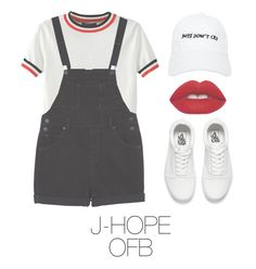 """Picnic with BTS"" by mazera-kor on Polyvore featuring мода, WithChic, Monki, Vans, Nasaseasons, Lime Crime, bts, Jhope и hoseok"
