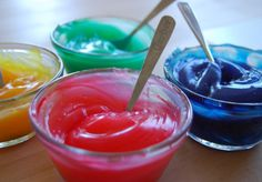 Edible Finger Paint - If you've ever had kids, or even babysat a toddler, you know what a great idea this is.