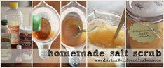 Homemade Honey Salt Scrub #homemade #spa #scrub