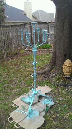 Painted my candle holder teal!