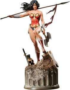 """This is the kind of """"fitspiration"""" I can agree with. I want those muscles!!! — Wonder Woman Premium Format™ Figure"""