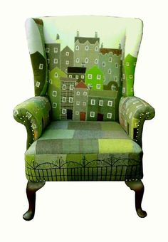 New Furniture Makeover Green Diy Projects Ideas, – Furniture 2020 Funky Furniture, Upcycled Furniture, Furniture Makeover, Painted Furniture, Furniture Design, Chair Makeover, Office Furniture, Poltrona Design, Patchwork Chair