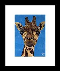 Giraffe Framed Print by Kelly Goss. All framed prints are professionally printed, framed, assembled, and shipped within 3 - 4 business days and delivered ready-to-hang on your wall. Choose from multiple print sizes and hundreds of frame and mat options. Wall Art For Sale, Wild Dogs, Wildlife Art, Special Gifts, Pet Dogs, Giraffe, Spice, Moose Art, Sketches