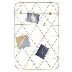 Cornice fotografica multipla in metallo dorato 36 x 53 cm PORTO