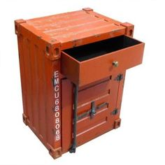 Combo Bedside Cabinet-Shipping Container design Burnley Yarra Area