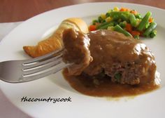 The Country Cook: Hamburger Steaks and Gravy
