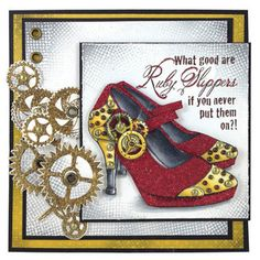 Stampendous What's New » Cling Ruby Slippers