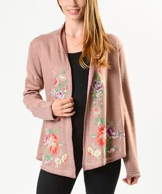PAPARAZZI Rose Floral Open Cardigan - Women by PAPARAZZI #zulily #zulilyfinds