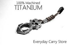 Ti Skull Zombie Self Defence Titanium Survival EDC Doomsday Tool Backpack Gear