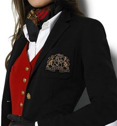 Quintessential Ralph Lauren.  A Black crested blazer with gold crest and…