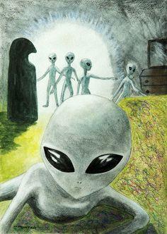 8 Terrifying Alien Abduction Stories That& Fuck You Up Les Aliens, Aliens And Ufos, Ancient Aliens, Arte Alien, Alien Art, Area 51, Alien Abduction Stories, Alien Drawings, Alien Spaceship
