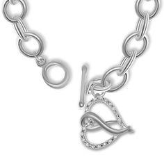 Ebay NissoniJewelry presents - 1/10CT Heart Charm on 7.1mm Link Bracelet in Sterling Silver    Model Number:BRV4730B-SI55    http://www.ebay.com/itm/1-10CT-Heart-Charm-7-1mm-Link-Bracelet-Sterling-Silver-/322049483097