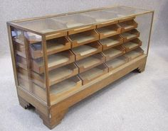 Vintage haberdashery display cabinet. Each tray is a drawer. How handy would that be!