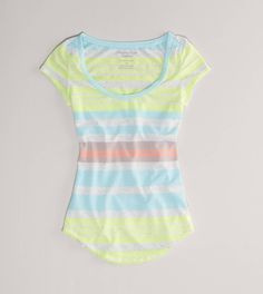 Pastel striped favorite shirt