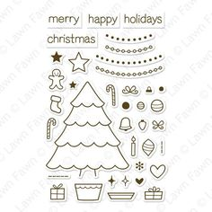 """Lawn Fawn """"""""Trim the Tree"""""""" Clear Stamp Set"""