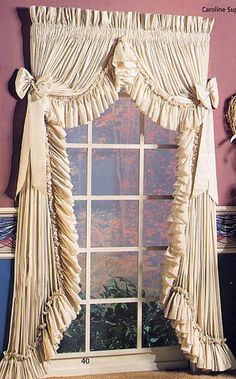 country ruffled curtain. these are gorgeous! i want these for my