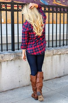 Plaid Button Down Top | UOIOnline.com: Women's Clothing Boutique