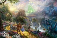 Dorothy Discovers the Emerald City, The Wizard of Oz by Thomas Kinkade