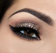 #glitter #makeup #eye #look