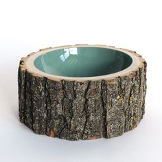 Log Bowl Large Pale Sage  by Doha Chebib Lindskoog