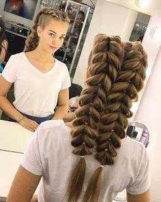 Braided hairstyles you should see - love hair- Geflochtene Frisuren, die Sie sehen sollten – Haare lieben Braided Hairstyles You Should See – – Braided Hairstyles You Should See French Fishtail Bridal Hairstyle – - Braided Hairstyles Tutorials, Box Braids Hairstyles, Bride Hairstyles, Hair Tutorials, Teenage Hairstyles, Hairstyle Ideas, Cool Hairstyles For Men, Hairstyles 2018, School Hairstyles