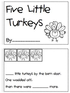 five little turkeys emergent reader