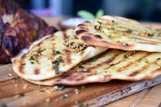 Check out this delicious recipe for Naan Bread from Weber—the world's number one authority in grilling. Grilling Recipes, Meat Recipes, Indian Food Recipes, Appetizer Recipes, Cooking Recipes, Appetizers, Weber Q Recipes, Bbq Roast, Recipes With Naan Bread
