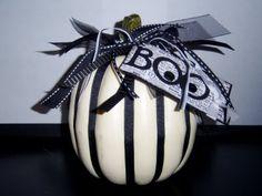White Halloween Pumpkin