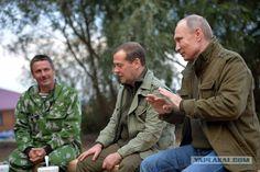 Рыбалка с президентом на озере Ильмень.