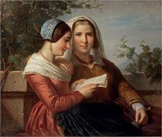 """""""The Love Letter"""" by Jan Adam Kruseman (1804-1862)"""