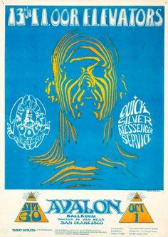 """Zebra Man"" 13th Floor Elevators/Quicksilver Messenger Service September 30 & October 1, 1966 Avallon Ballroom - San Francisco"