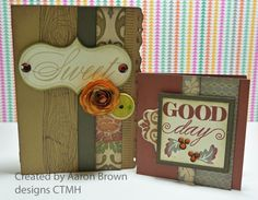 cards by Aaron Brown using CTMH Huntington paper