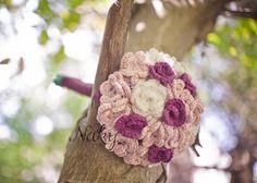 crochet wedding bouqet
