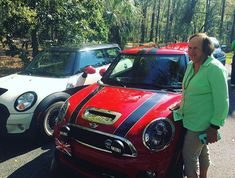Mother-in-law admiring the #MINI - #minicooper #minilovers #r56 #johncooperworks