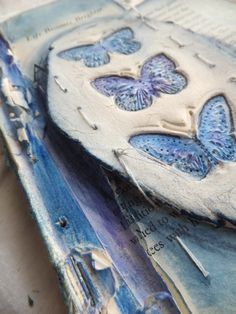 Blue Butterfly Altered Book