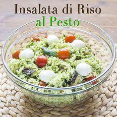 Insalata di riso al pesto - Easy Summer Meals, Summer Recipes, Easy Meals, Vegetarian Recipes, Cooking Recipes, Healthy Recipes, Healthy Food, Salty Foods, Buffet