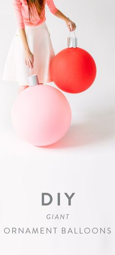 This project idea for DIY Giant Ornament Balloons takes homemade Christmas decorations to the extreme—and we love it! Perfect for decorating your home for the holidays, these festive accessories are sure to make an impact with your party guests.