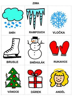 Pro Šíšu: Komunikační obrázky Christmas Activities For Kids, Pictogram, Winter Time, Diy For Kids, Montessori, Diy And Crafts, Alphabet, Kindergarten, Preschool