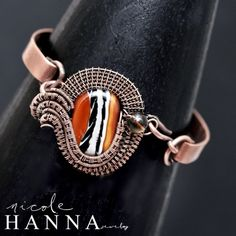 Copper Cuff and Lampwork by MARCIA SEEVER