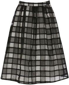 Pin for Later: La jupe mi-longue, flatteuse pour tout le monde ! Jupe à carreaux Warehouse Warehouse Organza Check Skirt (48,61 €)