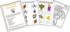 Here's another wonderful Activity Pack from Our Jewish Homeschool Blog!  There's a creative activity in there for everybody.
