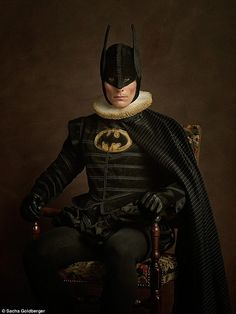 French photographer Sacha Goldberger has taken comic book heroes to the next level, re-imagining the likes of Batman, Catwoman and Superman as Flemish paintings