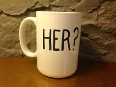 Her? Arrested Development Mug | Coffee | Tea | Handmade | Gift | Valentines | Funny | Bluth |Custom| Handmade | Michael Cera | Jason Bateman