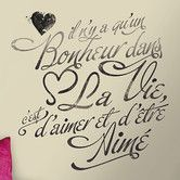 Found it at Wayfair - Deco Bonheur Peel and Stick Wall Decal