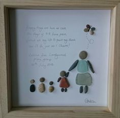 Pebble and sea glass picture