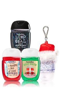 Stocking Stuffers 3-Pack PocketBac & Holder - Soap/Sanitizer - Bath & Body Works