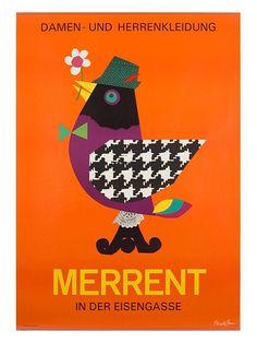 Mid-Century Art: Modern Swiss Ad Print . . Repinned via Beth