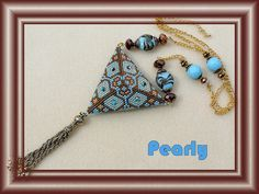 triangle réversible bleu recto by pearly beads, via Flickr