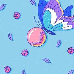 도은묜さんはInstagramを利用しています:「나는 나비가되어 인생 자유롭게 보내고 싶어. 당신은 지금 시간이 싫어 질 수 있나요? #에이틴 #일러스트 #다자인 #꼿들에게회망을 #🦋」